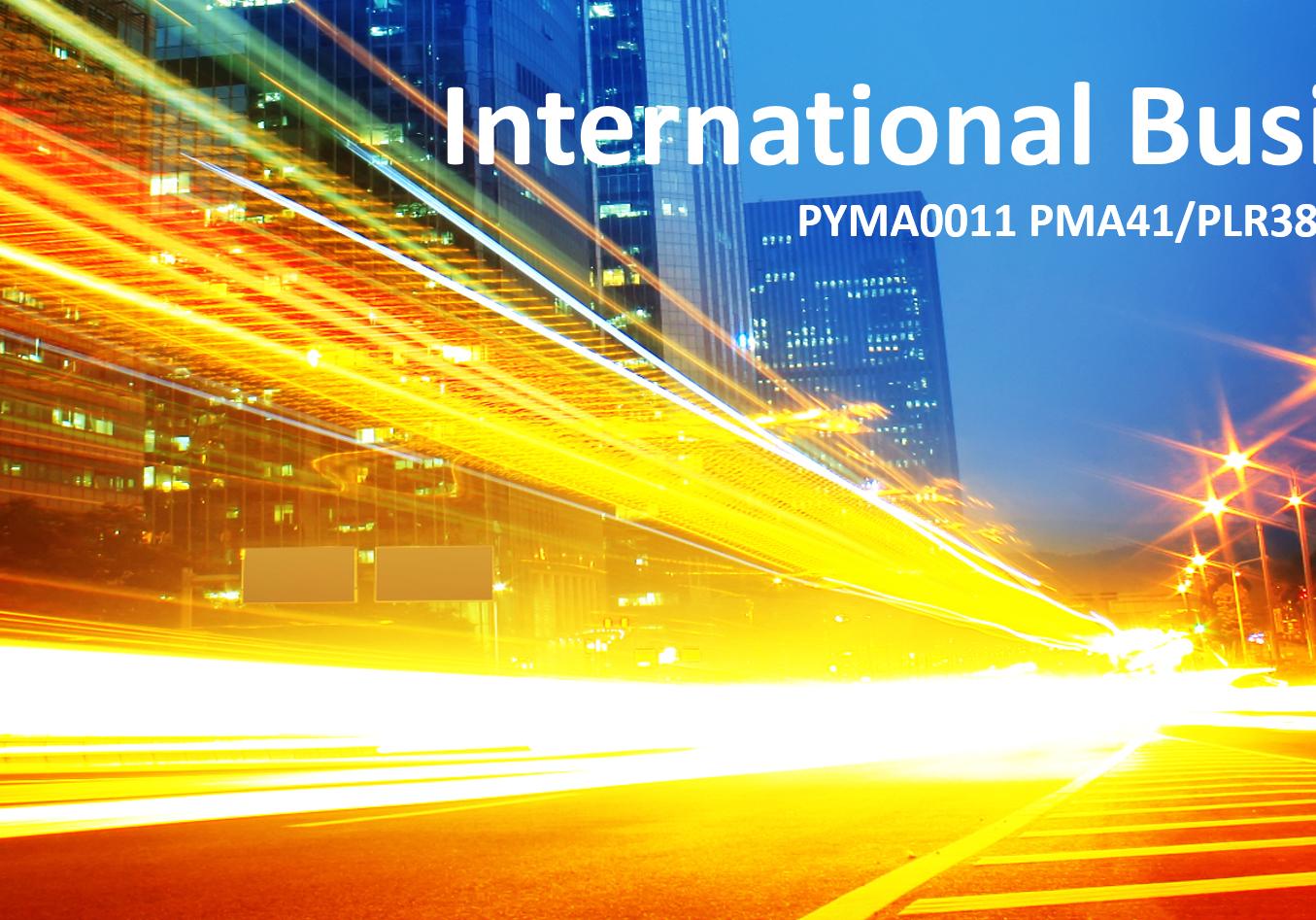 International Business - Presentation  1.4.2019 at UTU Pori